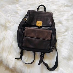 🤩NEW LISTING Perlina brown leather mini backpack